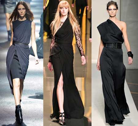 черные платья 2013 в греческом стиле