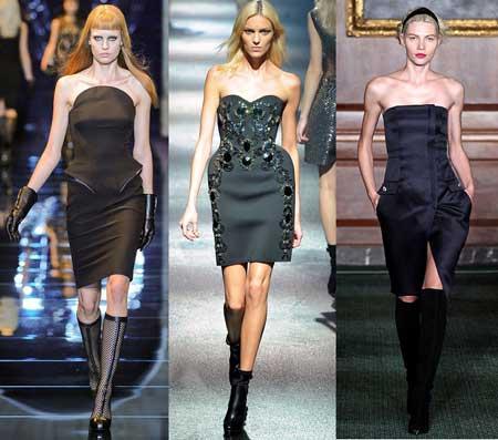 черные платья 2013 с корсетом