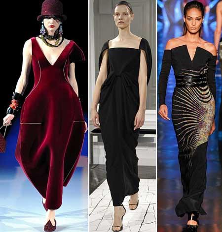 модели длинных платьев 2014 с необычным кроем