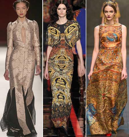 длинные платья 2014 с принтами фото