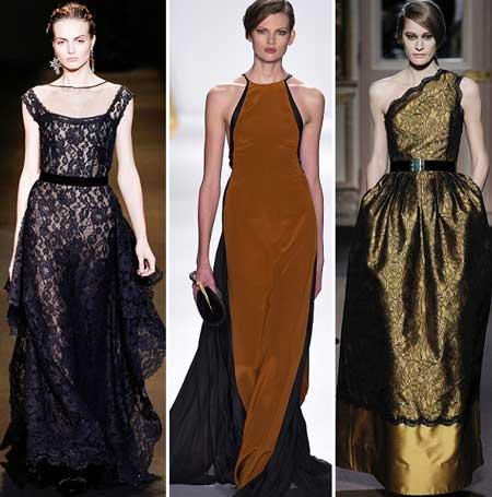 кружево в дизайне длинных платьев 2014