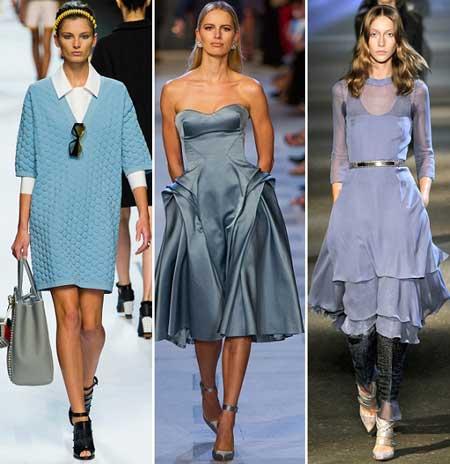 оттенки голубых платьев 2013 фото