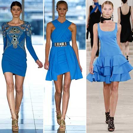 ярко-голубые платья весна-лето 2013