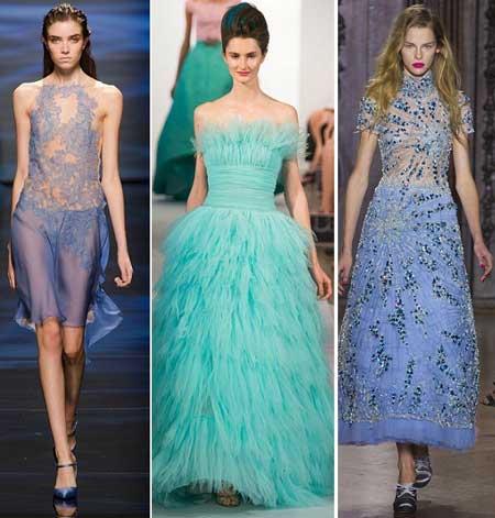 вечерние платья 2013 в голубом цвете