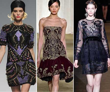 отделка коктейльных платьев 2014