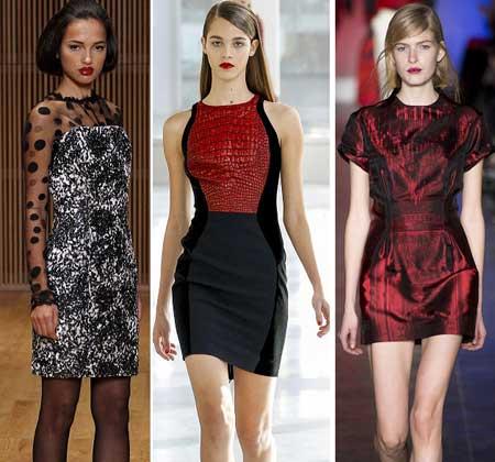 дизайн модных коротких платьев 2014