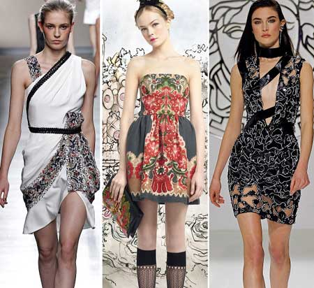 нарядные варианты коротких платьев 2014