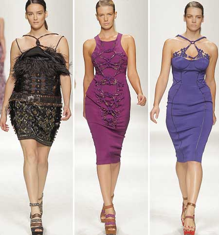 мода 2013 - фото коктейльных платьев для полных
