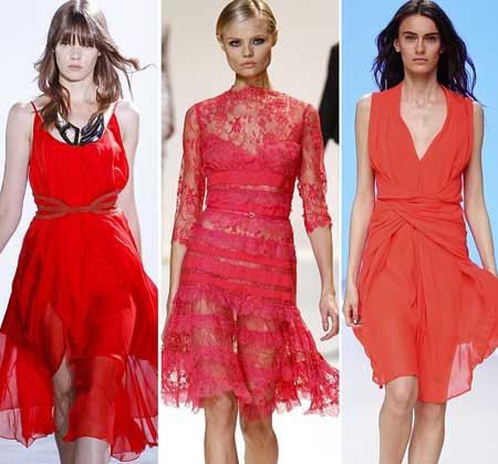 короткие красные платья на выпускной фото