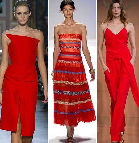 модели красных платьев для выпускного вечера