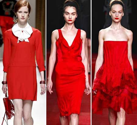 модные красные платья 2014