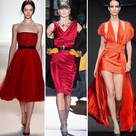 фото красных платьев 2014