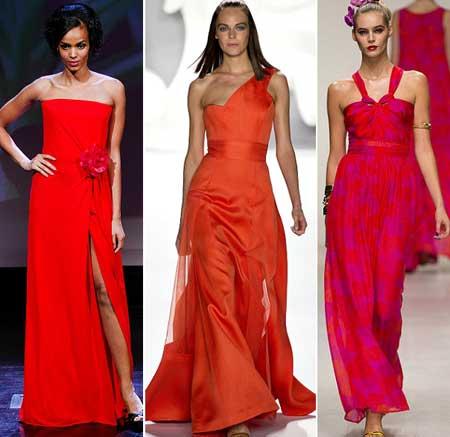 красные вечерние платья 2013 фото