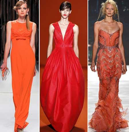 фото красных вечерних платьев 2013