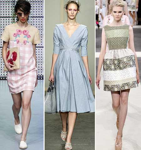 фасоны льняных платьев