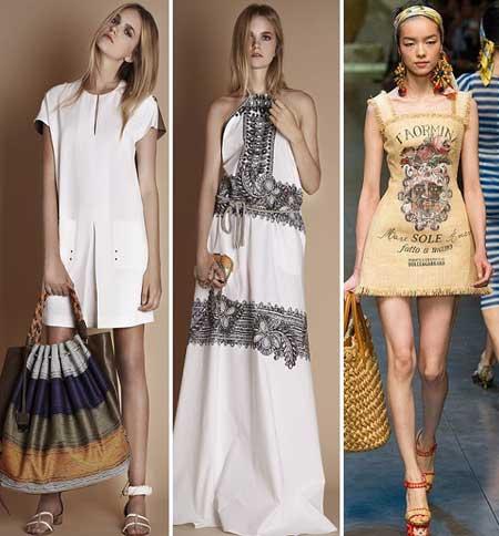 короткие и длинные платья из льняной ткани