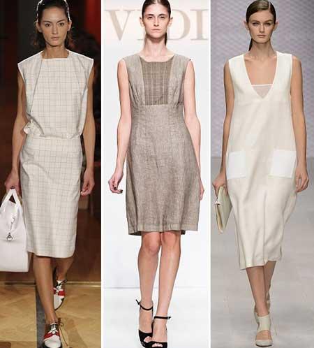 льняные платья в деловом стиле