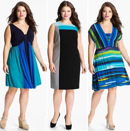 платья для полных лето 2013
