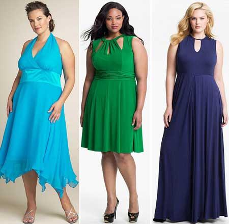модели летних платьев 2013 для полных
