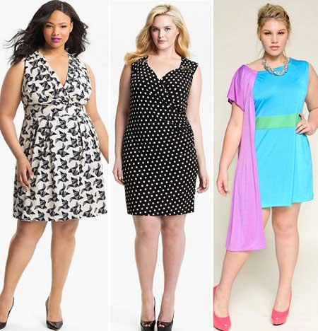 модные платья для полных лето 2013