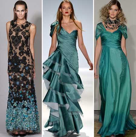 фасоны летних вечерних платьев 2013