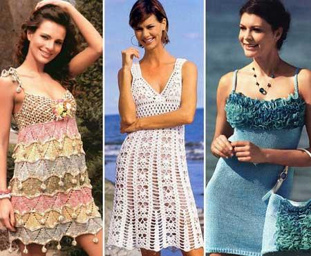 ажурные вязаные платья для лета