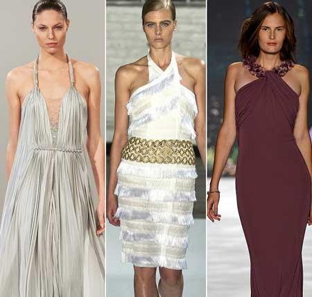 петлевидные бретели на платьях 2013