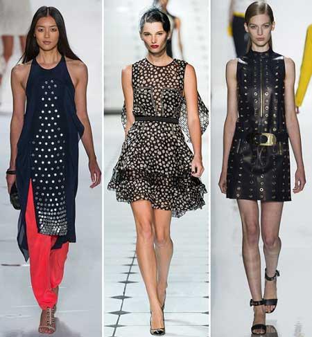 модели платьев в горох 2013