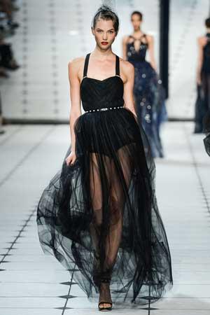 черное пышное платье 2013 из шифона