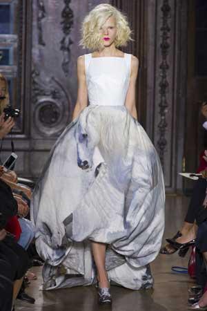 пышное платье 2013 с принтом