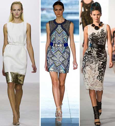 платье-футляр 2013 с поясом