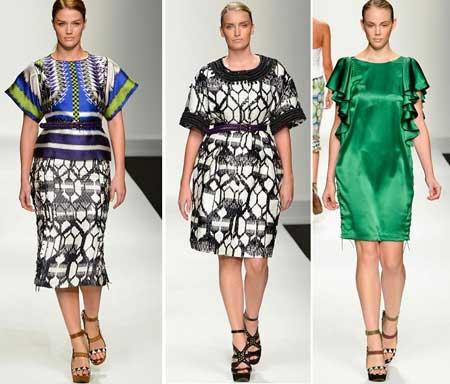 модные платья для полных 2013 фото