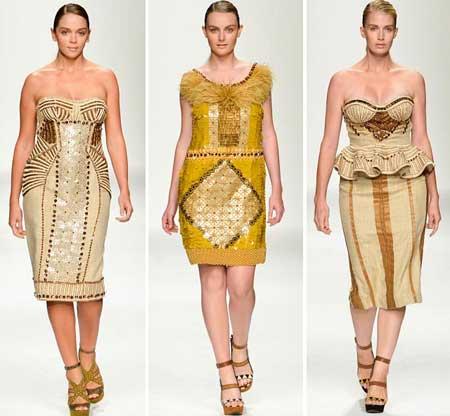 платья для полных 2013 с золотым декором