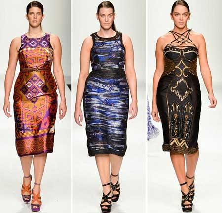 принты на платьях для полных 2013