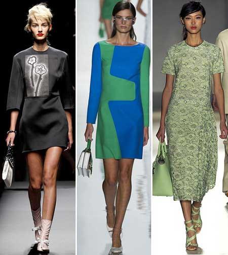 фасоны платьев на весну 2013