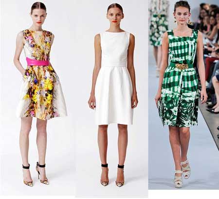 фасоны простых платьев на каждый день 2013
