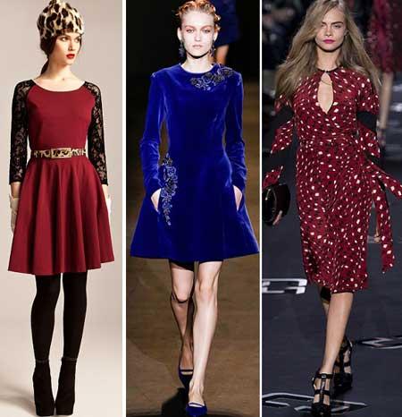 фасоны платьев осень-зима 2013-2014 фото