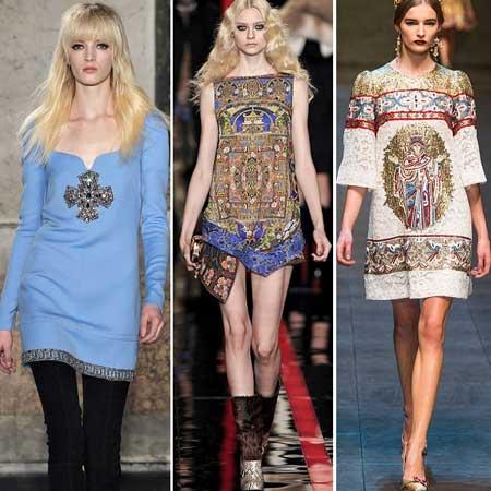 платья осень-зима 2013-2014 в религиозном стиле