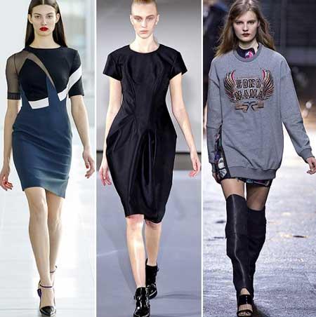 спортивный стиль в платьях осень-зима 2013-2014