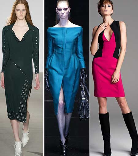 пикантные детали в дизайне платьев осень-зима 2013-2014