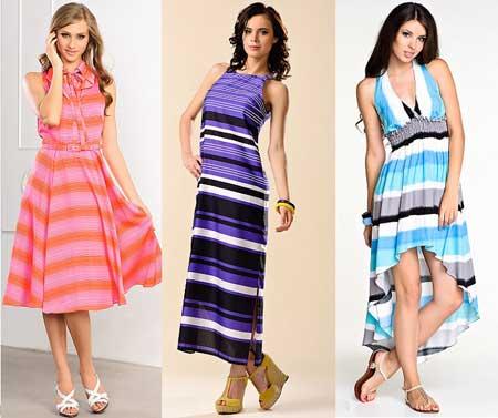 модные платья с полосками фото