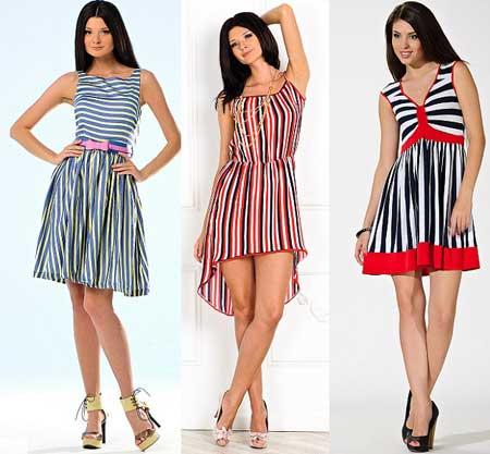 модели полосатых платьев фото