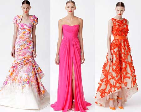 примеры модных платьев в пол 2013