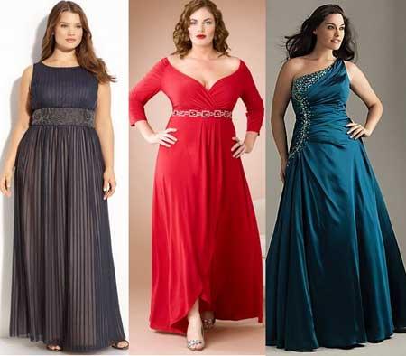 вечерние длинные платья для полных на Новый год 2013