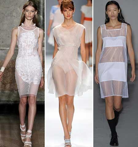 модели прозрачных платьев