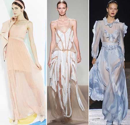 длинные прозрачные платья