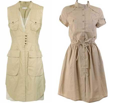 модные фасоны платьев сафари