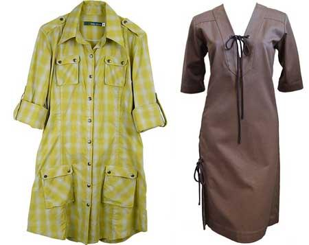 платья сафари для полных женщин