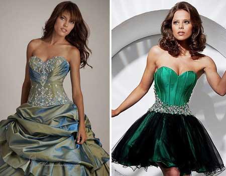 фото нарядных платьев с корсетом