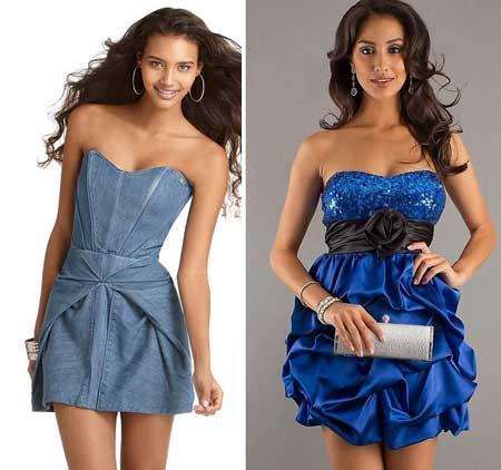 коктейльные платья с корсетом
